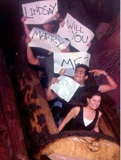 This is my dream proposal! One of my favorite places and rides!