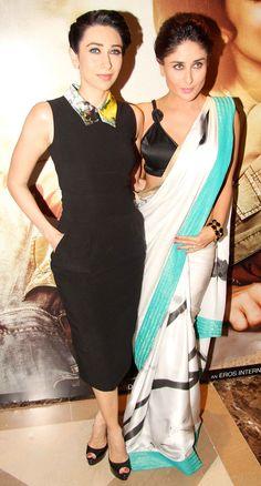 Kareena Kapoor and sister Karisma Kapoor at the music launch of 'Lekar Hum Deewana Dil'.