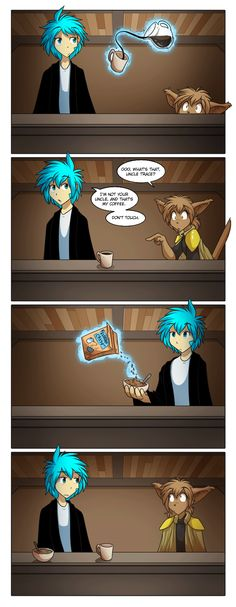 If you haven't already go check out the fantastic comic made by Tom Fischbach called TwoKinds http://twokinds.keenspot.com/