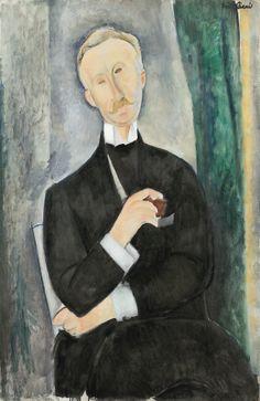 ilovetocollectart:  Amedeo Modigliani - Portrait de Roger Dutilleul, 1919, oil on canvas, 100.4 x 64.7cm