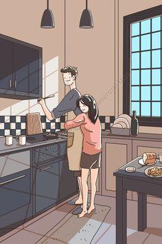 Art Love Couple, Cute Couple Drawings, Anime Couples Drawings, Cute Drawings, Sweet Couple, Cute Couple Comics, Couples Comics, Couple Cartoon, Romantic Anime Couples
