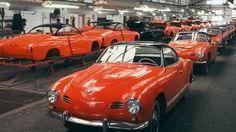 Volkswagen Karmann Ghia Typ 14 Produktion  Quelle: Volkswagen
