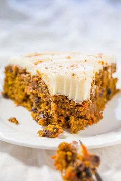 A marriage of pumpkin cake and carrot cake into one soft, moist, tender, and amazing cake!! The tangy cream cheese frosting is truly the icing on this easy cake!!