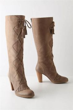 Anthropologie Fringed Boots