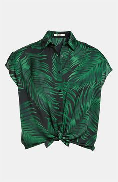 BB Dakota - Palm Frond Print Shirt