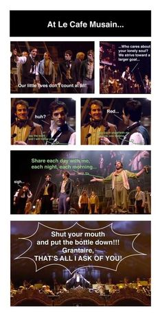 """It seems that Enjolras isn't the only person who wants Grantaire to """"put the bottle down..."""""""