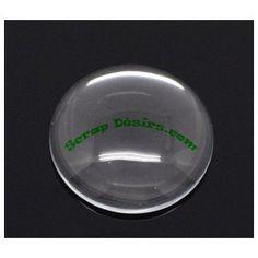 petit dome en verre diam:20mm
