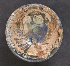 Bowl Date: 12th–13th century Geography: Syria, Raqqa Culture: Islamic Medium: Stonepaste; underglaze painted
