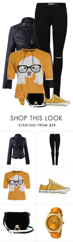 """""""doggy sweater"""" by divacrafts ❤ liked on Polyvore featuring Converse, Diane Von Furstenberg, Invicta and Original"""