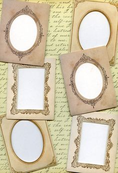 This set of six (6) mini frames are reproduced from those larger versions you can often find at estate sales and flea markets. They are made of