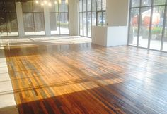 Reclaimed hardwood floors from the old Sears building will greet you when you first walk into BINDERS Ponce City Market.