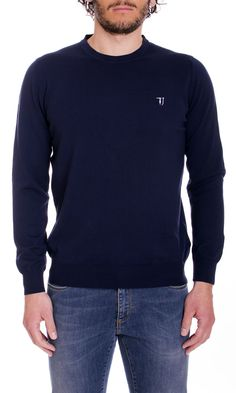 Trussardi Jeans | Maglia Trussardi Jeans Uomo Girocollo Col. Blu - Shop Online su Dursoboutique.com 520000