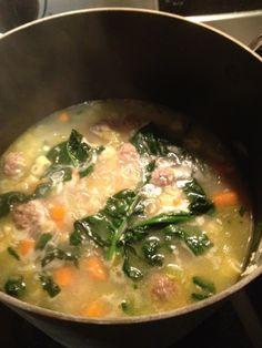 Italian Wedding Soup; healthy, easy crock pot recipe for fall!
