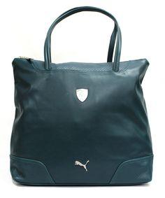 Puma Ferrari Shopper Hand Shoulder Bag Green PU Zip Sports (071596 04) D1 80546a96aa5