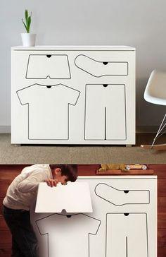 Training drawers by Peter Bristol. #kids #drawers