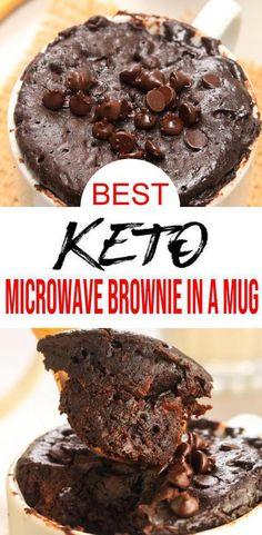 Mug Brownie Recipes, Brownie In A Mug, Mug Recipes, Keto Recipes, Cake Recipes, Chocolate Chip Mug Cake, Keto Chocolate Chips, Low Carb Chocolate, Healthy Chocolate Mug Cake