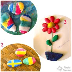 Painting stones with acrylic spray paint to water is ideal for children as it is not toxic and dries quickly, but. Water Based Acrylic Paint, Acrylic Spray Paint, Types Of Painting, Stone Painting, Flag Painting, Dry Stone, New Crafts, Water Crafts, Painted Rocks