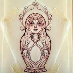 by Miss Juliet - beautiful matryoshka.