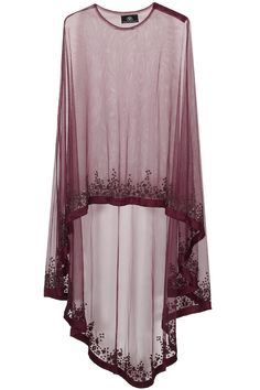 Wine floral beads embroidered cape available only at Pernia's Pop Up…