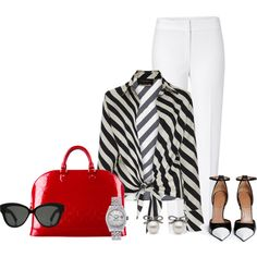 Wednesday's Outfit by binkie211 on Polyvore featuring мода, ADRIANA DEGREAS, ESCADA, Givenchy, Louis Vuitton, Rolex and Linda Farrow