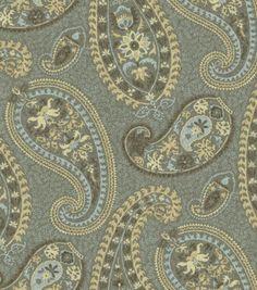 Home Decor Print Fabric-Waverly Caftan Paisley Moonstone