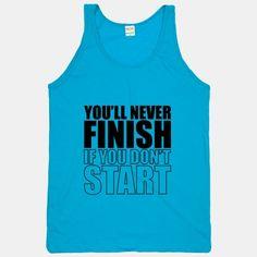 Never Finish workout shirt