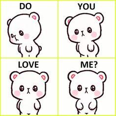 I may get angry but u melt me with your words. Cute Bear Drawings, Cute Cartoon Drawings, Cute Cartoon Pictures, Cute Couple Cartoon, Cute Love Cartoons, Cartoon Pics, Cute Images, Cute Panda Wallpaper, Love Quotes Wallpaper