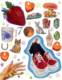 collage kit #4 — all my friends Collage Book, Soul Collage, Magazine Collage, Cute Love Memes, Art Prompts, Collage Illustration, Collage Design, Aesthetic Collage, Aesthetic Stickers