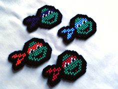 Plastic Canvas 3D Ornaments | TMNT Ninja Turtle Magnets Plastic Canvas by SnarkyLittleStitcher