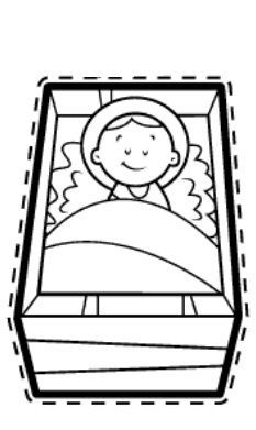 La Catequesis: Manualidades: Pesebres, Nacimientos, Belenes para recortar, colorear y montar los niños