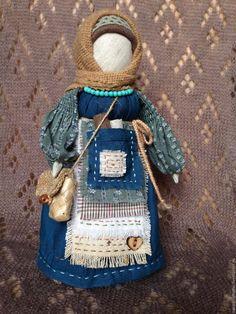 Купить Народная кукла Успешница (синий, бирюзовый, бежевый) - тёмно-бирюзовый…