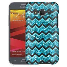 Samsung Galaxy Core Prime Teal Chevrons Case