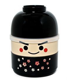 No ordinary lunch box! This charming bento-style selection features a miso bowl, a middle container with a lid and an open lower container. It secures closed with a wide elastic band.Includes soup bowl, covered head container, body container and elastic band5.3'' H x 3.75'' diameterPolypropyleneSoup bowl, head container and body container: microwave and dishwasher safeMade in Japan