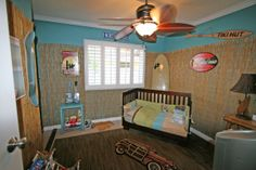 Kielans Surf / Skate Room!!, My son is now 2 1/2, so it was time to update his baby room to make it geared toward his interests now as a 2 1/2 year old - he loves to surf, skateboard and stand-up paddle, so I wanted to make a fun space for him to hang out!  , Boys Rooms Design