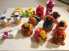 Lot Of 14 Mcdonald's Transformers Food Changeables Toys 1980's Vintage Mcdonalds