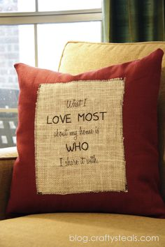 Crafty Steals Blog: Printing on Burlap..... I can frame my creation versus putting it in the throw pillow!