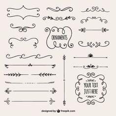 Coleção fronteiras caligráficos