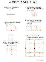 Intermediate Matchstick Puzzles