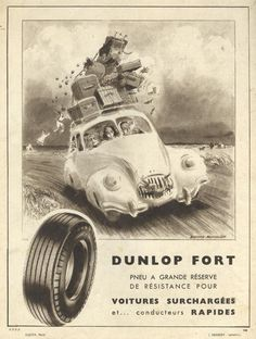 1947 Dunlop Fort tire ad from France.