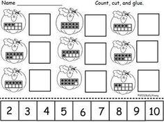 10 frame matching and other pumpkin match activities Preschool Math, Kindergarten Classroom, Fun Math, Teaching Math, Kindergarten Worksheets, Math Resources, Math Activities, Math Games, School Holidays