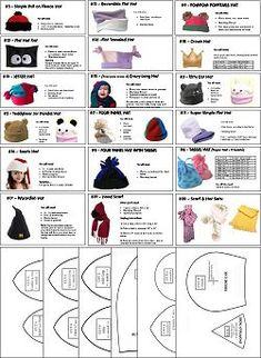 Free Printable Fleece Hat Patterns | ... hat patterns this collection is hat patterns for sewing