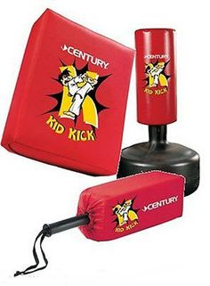 Century Kid Kick COMBO Freestanding Martial Arts Punching bag NEW 10152combo