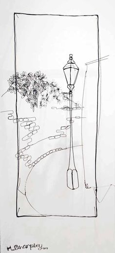 Junction Art Gallery - Helaina Sharpley 'Lampost - Bulwarks Lane'