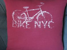 New York City T Shirt Throw Pillow by ThePastureRoad on Etsy