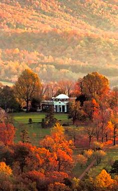 Monticello (home of Thomas Jefferson) in the fall in Charlottesville, VA. Beautiful part of the state.