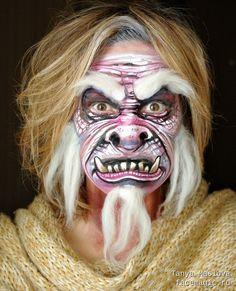 Yeti. Face paint by Tanya Maslova.
