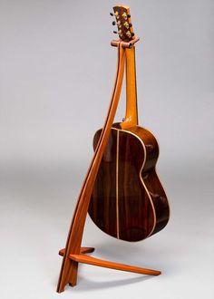 20 Splendid Guitar Stand Case For Multiple Guitars Guitar Stand Bag Guitar Storage, Guitar Display, Woodworking Furniture, Woodworking Plans, Wooden Guitar Stand, Guitar Hanger, Music Stand, Stand Design, Fine Furniture