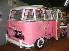 Getting around in style a very girlie van from the Volkswagon world!