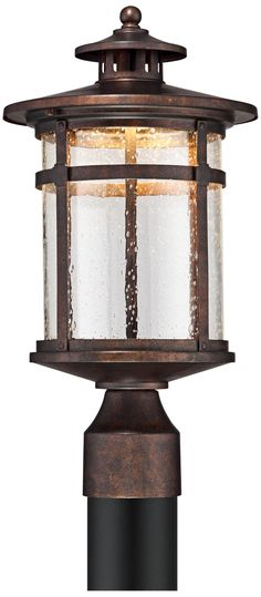 "Callaway Rustic Bronze 15 1/2"" High LED Post Light"