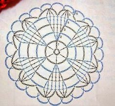 Crochet doily Más Learn the basics of how to needlework (generic term), at the very beginning. If you're brand new to crocheting, the Motif Mandala Crochet, Crochet Circles, Crochet Motifs, Crochet Flower Patterns, Crochet Diagram, Doily Patterns, Crochet Chart, Crochet Flowers, Crochet Stitches